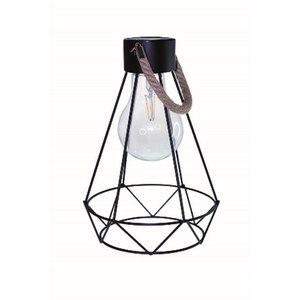 Lanterne solaire métal noir Maxi Britt à LED blanc chaud H 30 cm 504935