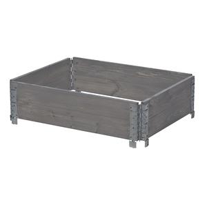 Potager modulable en bois gris 80x60 cm 505026