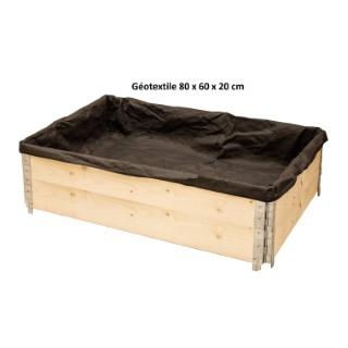 Géotextile pour potager modulable noir 83x43 cm 505046