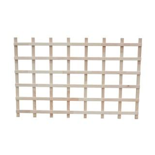 Treillis en bois naturel pour potager modulable 116x75x3,5 cm 505051