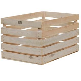 Caisse en bois de pin naturel 59,5x39x33 cm 505055