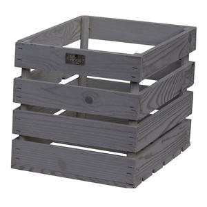Caisse en bois de pin Gris 35x26x26 cm 505058