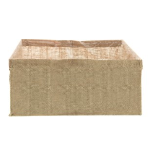 Sac à planter carré en jute naturel 30x30x15 cm 505063