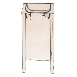 Housse PVC transparente pour support d'étagère tour 40x120x40 cm 505064