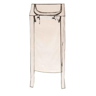 Housse PVC transparente pour support d'étagère tour 40x140x40 cm 505065