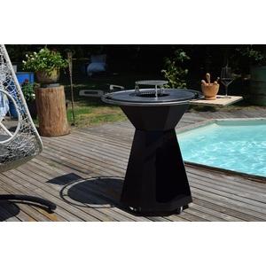 Brasero Le Churrasco Pyramidal Plancha Tonio epoxy noir Ø 70 cm 505365
