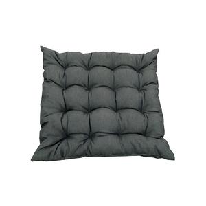 Assise futon carrée 16 Cap Colors Ardoise en polycoton 505442