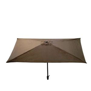Parasol rectangulaire inclinable à manivelle taupe 200 x 300 cm 505476