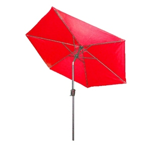 Parasol inclinable à manivelle rouge Ø 250 cm 505477