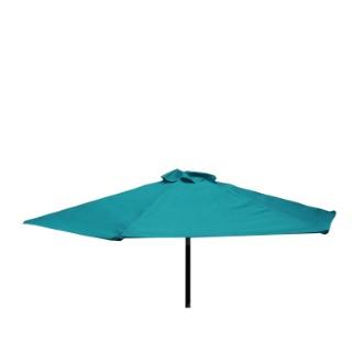 Parasol inclinable à manivelle bleu Ø 250 cm 505478