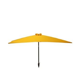 Parasol rectangulaire inclinable à manivelle orange 200 x 300 cm 505483