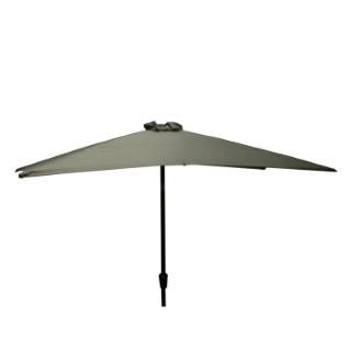 Parasol rectangulaire inclinable à manivelle gris galet 200 x 300 cm 505487