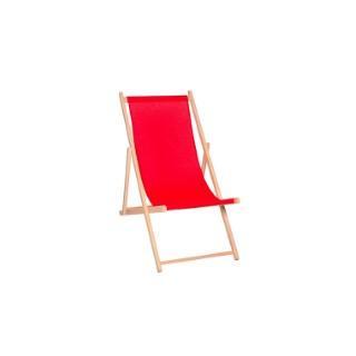 Chilienne avec toile agrafée coloris rouge carmin 132 x 55 x 3,5 cm 505492