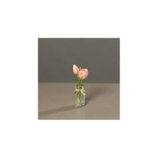 Tulipe arrangement en verre 20 cm 506459