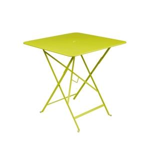 Table pliante en métal BISTRO couleur verveine L71xl71xh74 507273