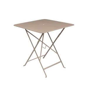 Table pliante en métal BISTRO couleur muscade L71xl71xh74 507279