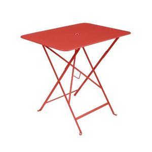 Table de jardin carrée pliante Bistro FERMOB capucine 77 x h 74 cm 507309