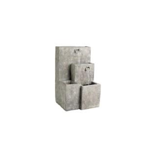 Fontaine à quatre niveaux en polyrésine effet grès 40 x 42 x 70 cm 507385