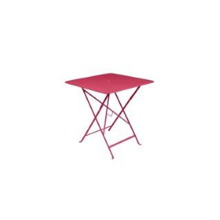Table pliante en métal BISTRO couleur rose praline L71xl71xh74 507477