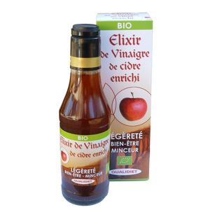 Élixir de vinaigre de cidre bio en bouteille de 250 ml 51327