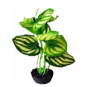 Plante verte en tissu pour terrarium 8 x 15 cm 516063