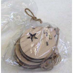 Sachet boules de noel bois. Le sachet 517931