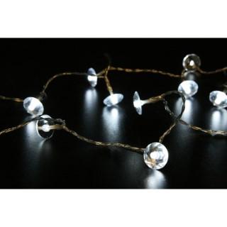 Guirlande lumineuse 20 perles miroir LED blanc 2 m 51892