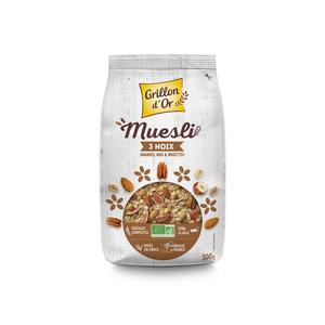 Muesli noix bio en sachet de 500 g 521064