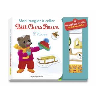 Mon Imagier à Coller Petit Ours Brun - L'hiver 2 à 4 ans Bayard Jeunesse 522217