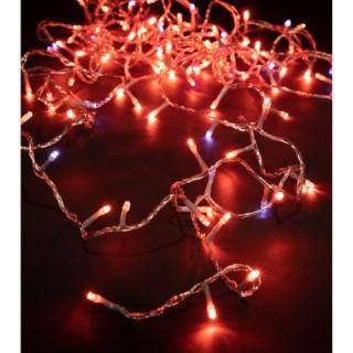 Guirlande lumineuse Led 128 Orange+ Flash Blanc Chaud L8 m 522232
