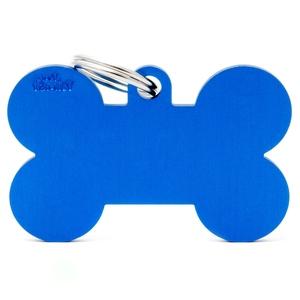 Médaille basic os XL pour chien en aluminium bleu 523236