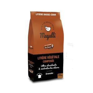 Litière végétale ultra absorbante en sac marron de 15 kg 523588