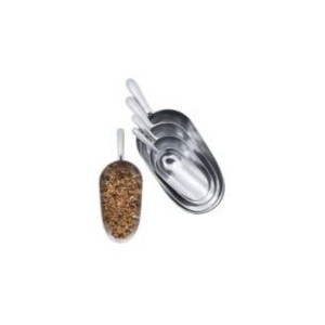 Pelle à grain en aluminium gris 600 ml 523595
