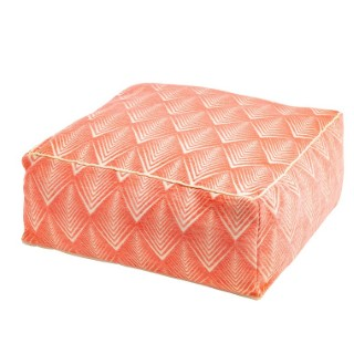 Pouf Mao Papaye en tissu 50x50x20 cm 523911