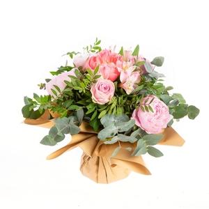 Bouquet Fête des Mères pivoines, roses et alstroemerias 100% françaises - 17 tiges 523920