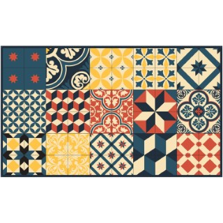 Paillasson Mix et Match carioca coloris multicolore 116x68 cm 523956