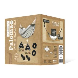 Set avec le hamac double classique paloma olive et kit de fixation 525361