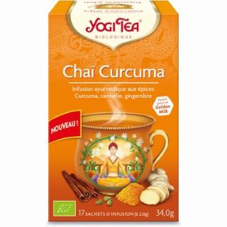 Yogi Tea Chaï curcuma en boîte carton de 17 sachets 526718