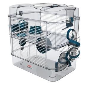 Cage pour petits rongeurs duo bleu 529220