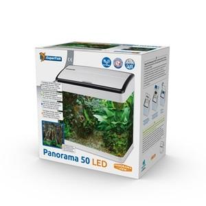 Aquarium Panorama 50 Blanc 46x30x47 cm 529260