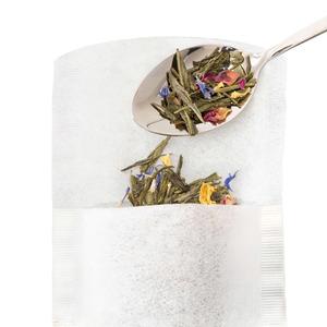 Lot de 100 filtres à thé en papier blanc 75x155 mm 531822