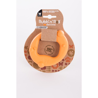 Cercle en caoutchouc Rubb'n'Roll Flottants orange 10x6 cm 532277