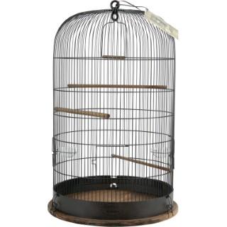 Cage rétro Marthe en métal et bois Ø 48 x H 74 cm 534082