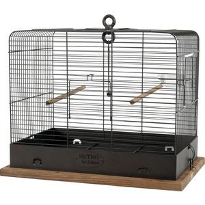 Cage rétro Celestine en métal et bois 48x31x41 cm 534084