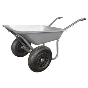 Brouette Galva à 2 roues gris 100L 534304