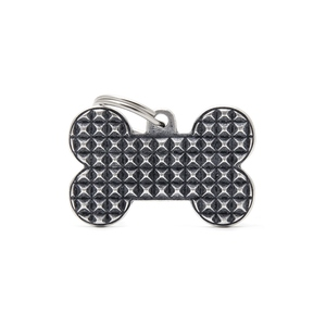 Médaille bronx grand os pour chien décoration pyramides en métal 534342
