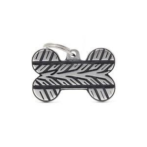 Médaille bronx grand os pour chien décoration pneu en métal 534346