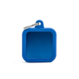Médaille hushtag carré bleu en aluminium 534364