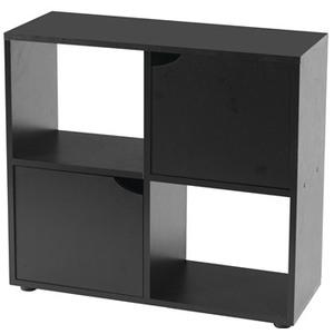 Meuble pour Aquarium Iseo 80 en mélaminé noir 80x30x72 cm 534656