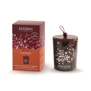Bougie décorative parfumée au copaïba rechargeable 13 x 8 cm 535497